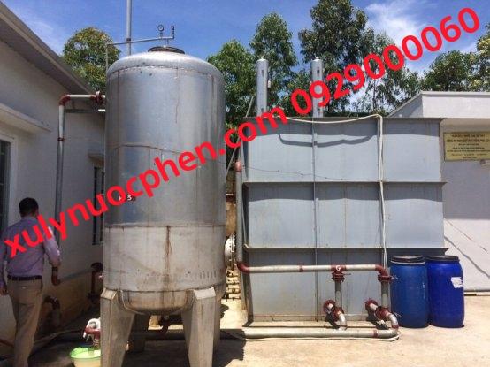 bình lọc nước phèn inox phi 800mm lắp đặt tại Vĩnh Long