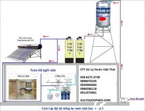sơ đồ lọc nước giếng trực tiếp