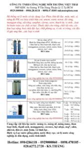 giá lọc nước sinh hoạt